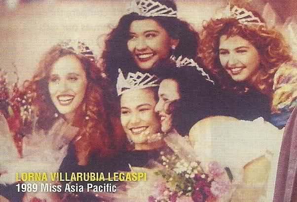 3rd Filipina to win Miss Asia Pacific crown, Lorna Legaspi in 1989